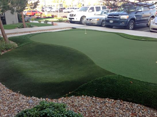 Fake Grass Carpet El Rancho, New Mexico Outdoor Putting Green, Commercial Landscape artificial grass