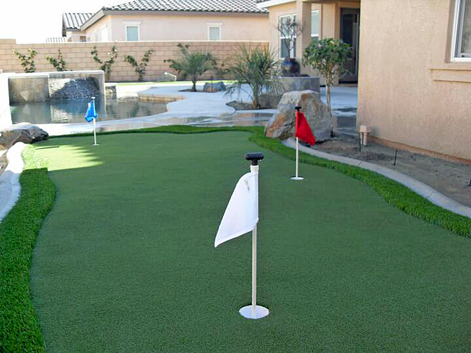 Synthetic Grass Cost Weed New Mexico How To Build A Putting Green Backyard Makeover